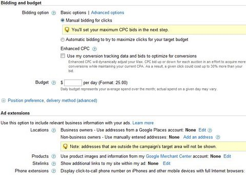 how to change adwords to manual cpc bidding